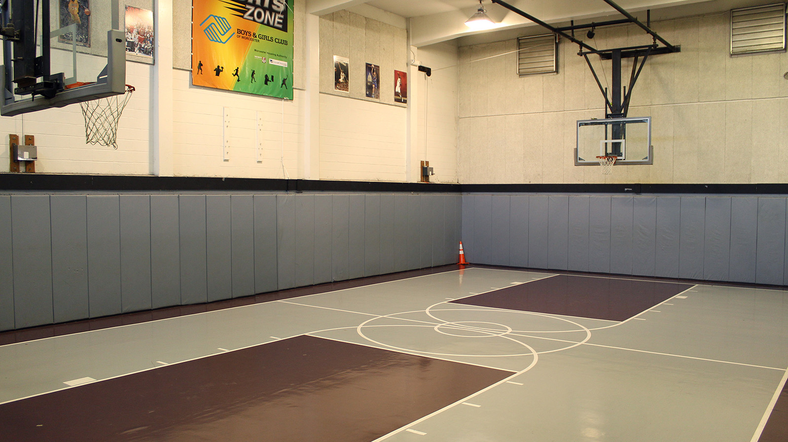 Indoor Basketball Court in Community Gym